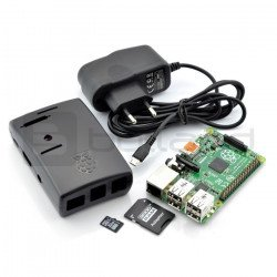 Raspberry Pi 2 set model B + chassis + power supply + card with system