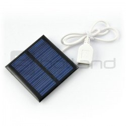 1W / 5.5V 95x95x3mm USB solar cell
