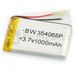 Li-Poly 1000 mAh battery 3.7