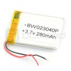 Li-Poly battery 280 mAh 3.7