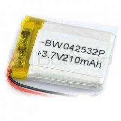 Li-Poly battery 210 mAh 3.7 type2