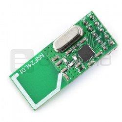 nRF24L01 2.4GHz radio module - transceiver THT - green