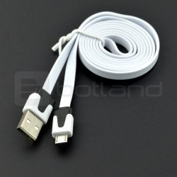 USB cable A - microUSB Blow flat - 1 m