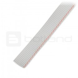 10 stranded wire, grey (50 cm) IDC raster 1.27 mm