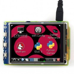 """TFT 3.2"""" 320x240px GPIO resistance LCD touch screen for Raspberry Pi 2/B+"""
