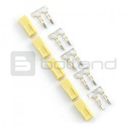 Connector type xxx - socket 2x1 + pins - 5pcs.