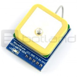 NEO-6M UART GPS module with antenna - straight pins