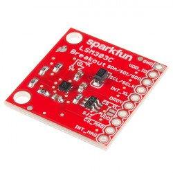 LSM303C - 3-axis accelerometer and magnetometer IMU 6DoF I2C/SPI - SparkFun module