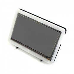 """Touch screen capacitive LCD TFT screen 7"""" 800x480px HDMI + USB for Raspberry Pi 2/B+ + case black and white"""