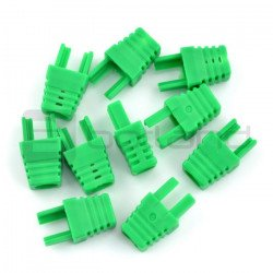 Bend for cable RJ45 8P8C - green - 10 pcs.