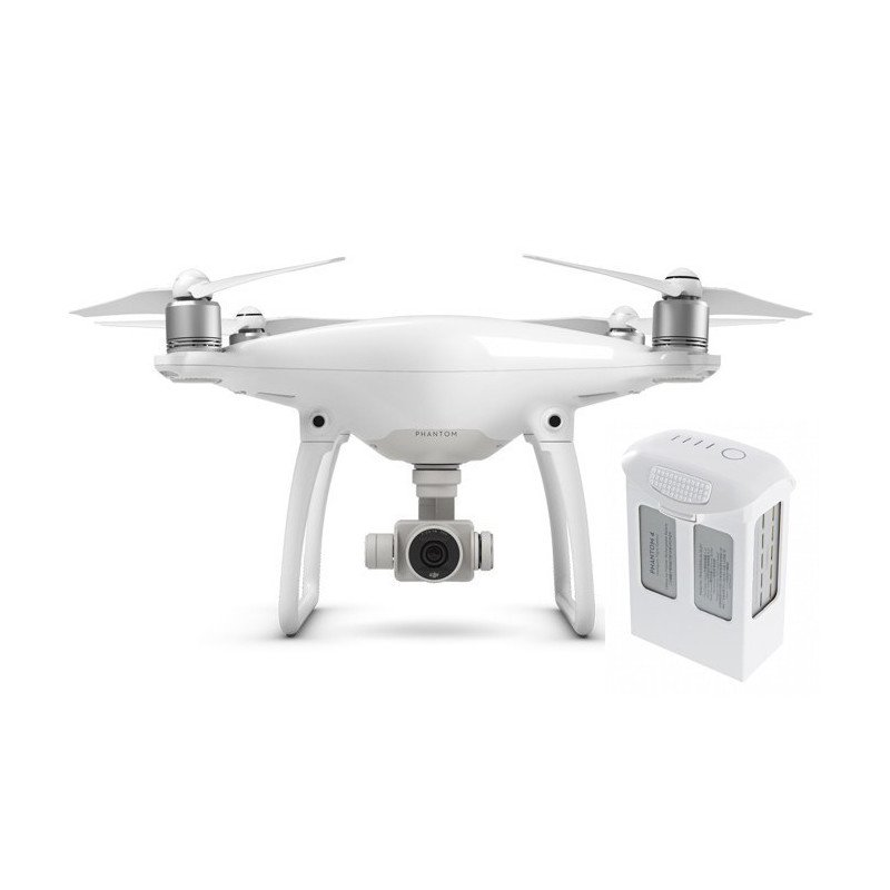 DJI Phantom 4 quadrocopter drone with 3D gimbal and 4k UHD camera + additional battery