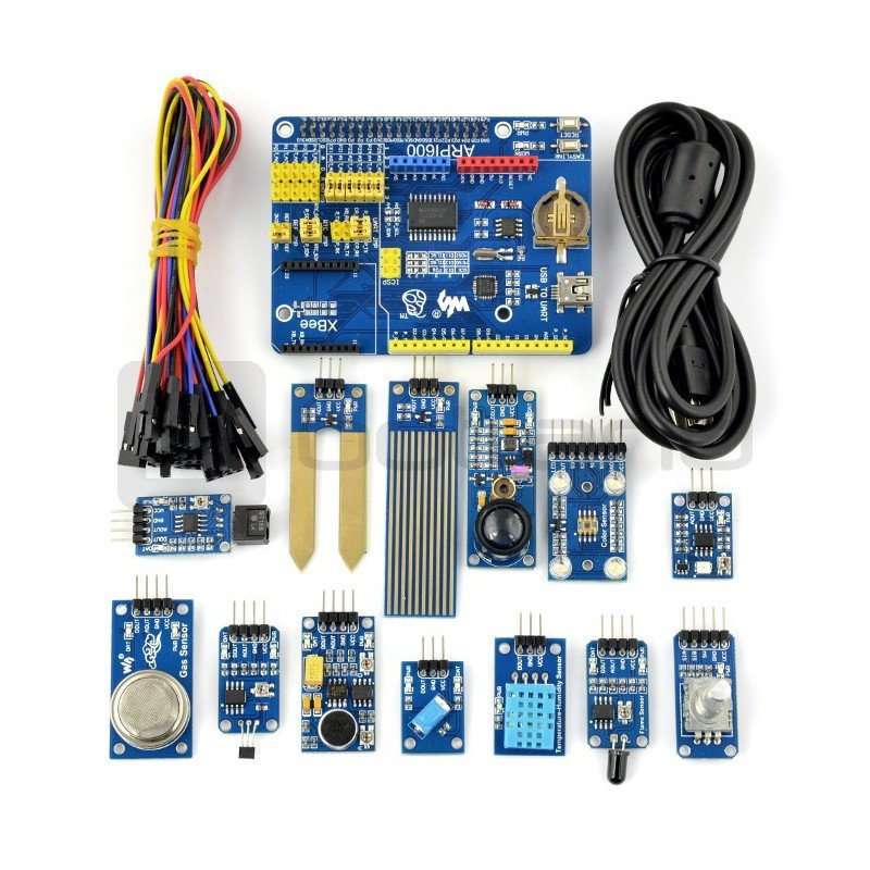 Set of 13 modules with Waveshare cables for RaspberryPi + ARPI600 module