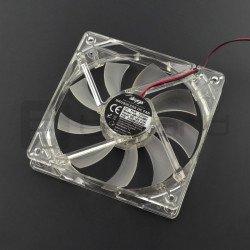 12V 120x120x25mm Molex fan - white backlight