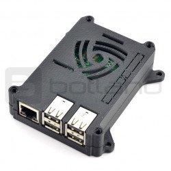 Raspberry Pi model 3/2/B+ 3D VESA monitor mount enclosure - black