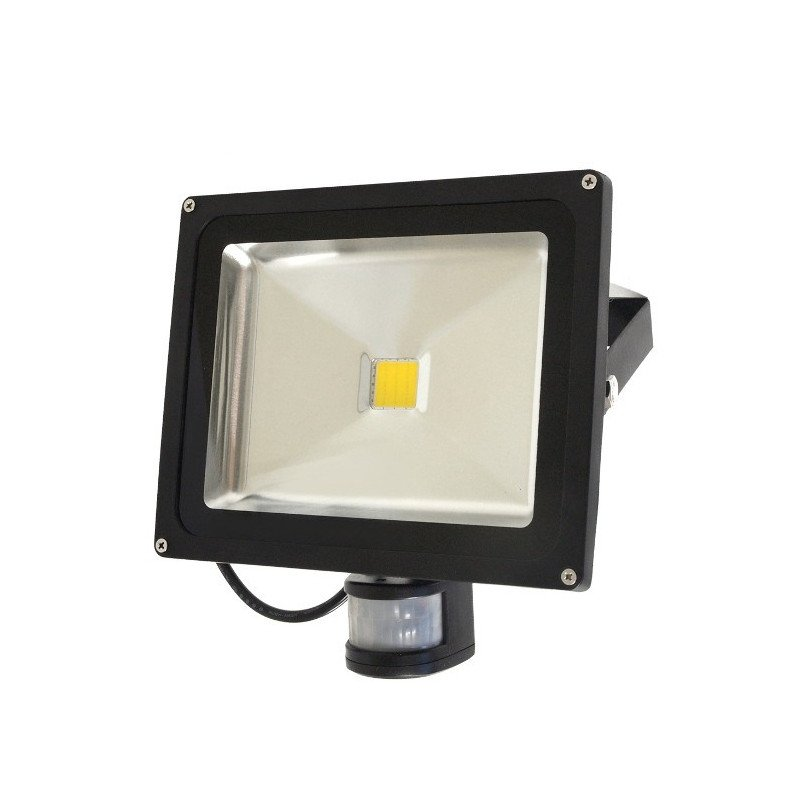 ART HQ PIR outdoor LED lamp with motion detector, 30W, 2700lm, IP65, AC80-265V, 4000K - white neutral