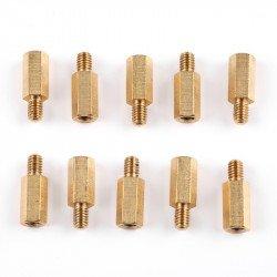 MakeBlock - brass distance M4x12 - 10pcs.