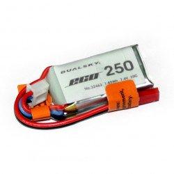 LiPol Dualsky package 250mAh 20C 2S 7.4V
