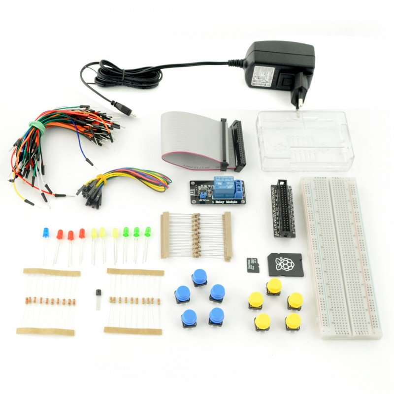 ProtoPi StarterKit - set of elements of the prototype with a Raspberry Pi 3