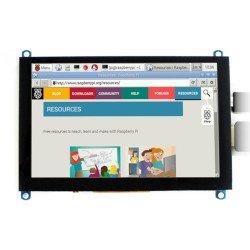"Capacitive touch screen TFT LCD display 5"" (H) 800x480px HDMI + USB Rev. 2.1 for Raspberry Pi 3B+/3B/2B/Zero"