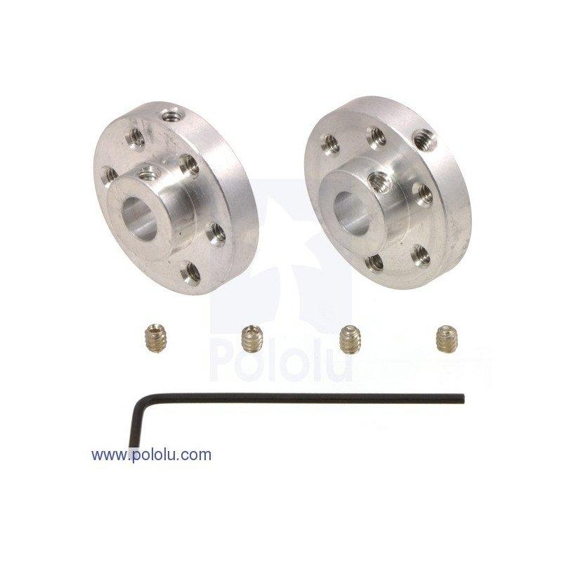 Aluminium Hub for 6 mm shafts