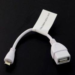 Adapter USB OTG - biały