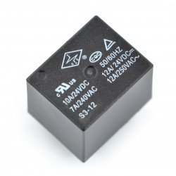 S3-12-12A relay - coil 12V, contacts 12A/240VAC