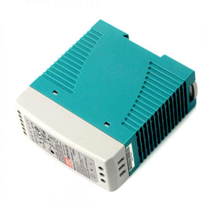 Mean Well MDR-10-24 DIN rail constant voltage power supply - 24V/0,42A