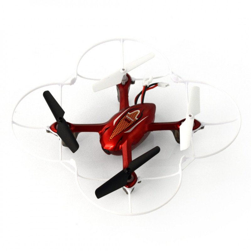 Dron quadrocopter Syma X11C 2.4GHz with camera - 15cm - red