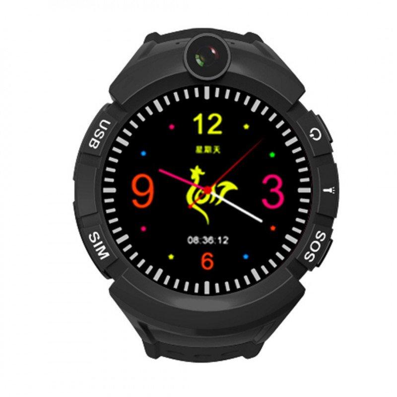Watch Phone Kids with GPS/WIFI Locator - Black