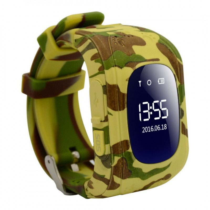 Watch for children with GPS locator AW-K01- Military