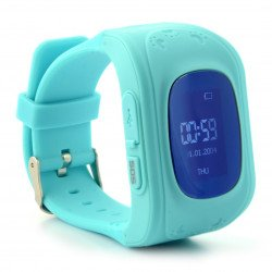 Children's watch with GPS tracker AW-K01- Turquoise