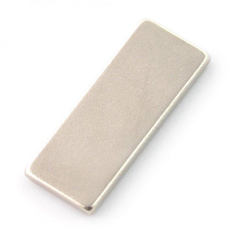 Rectangular neodymium magnet - 25x10x2mm