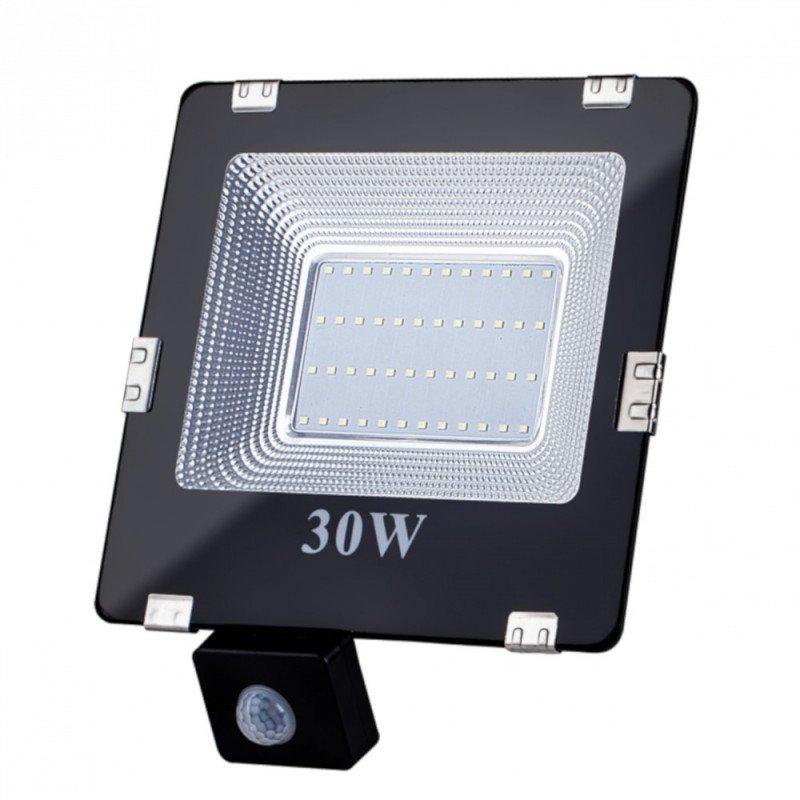 Lampa zewnętrzna LED ART, 20W, SMD, IP65, AC80-265V, black, 4000K-W, sensor