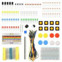 Zestaw elementów elektronicznych + płytka stykowa - AM402