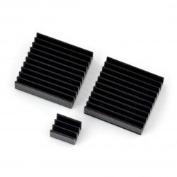 Heat sink kit for Raspberry Pi RPI-Coolkit.9 with thermal tape - black
