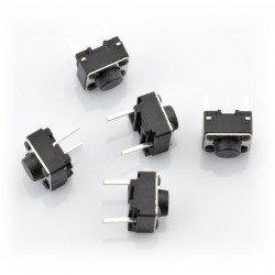 Tact Switch 6x6, 4.3mm DIP - 5szt.