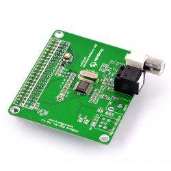 HiFiBerry Digi + standard - sound card for Raspberry Pi 4B/3B+/3/2/B+/A+/Zero