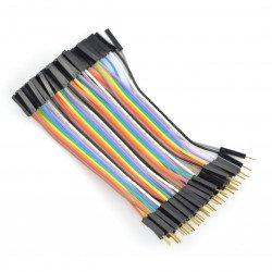 Female to male connection cables 10cm - 40pcs.