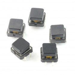 Tact Switch 12x12mm z nasadką zielony
