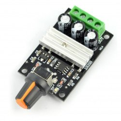 Simple DC 28V/3A motor controller - knob module