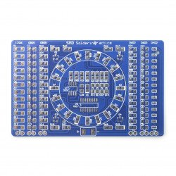 Kit for learning to solder components SMD