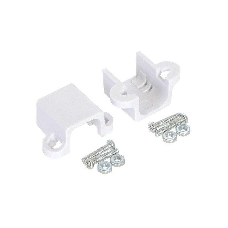 Mount for Pololu micro motors long - white - 2pcs.