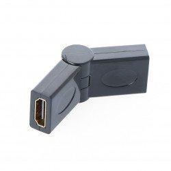HDMI adapter, angled - socket
