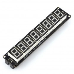 8 x 7-segment SPI display module for installation