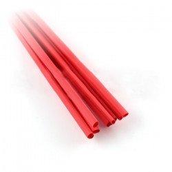 Heat shrink tube 2,4/1,2 red - 10pcs.