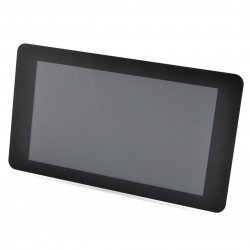 Enclosure for Raspberry Pi and dedicated 7'' touch screen - transparent with stand