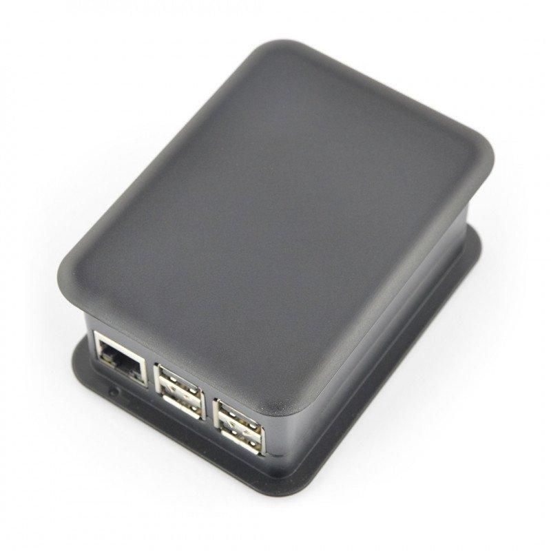 TEKO Enclosure Plastic Raspberry Pi + GPIO Hat - Black