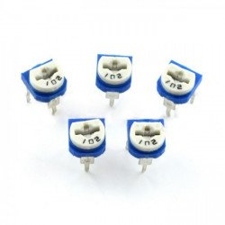 The 47kΩ potentiometer mounting lying - 5pcs