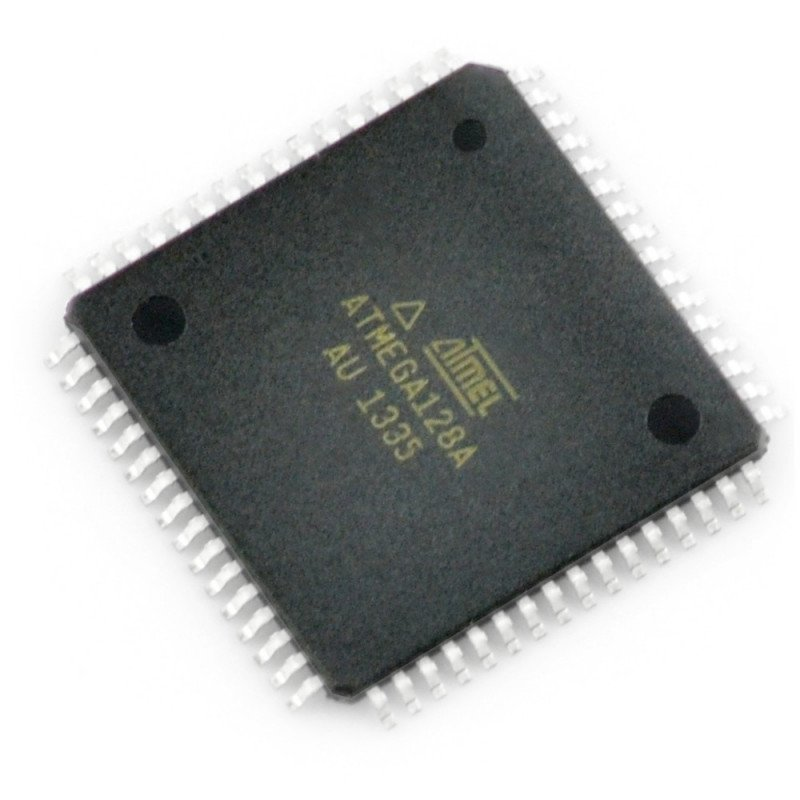 The AVR microcontroller - part no atmega128a-AU SMD