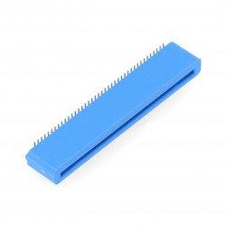 Female 40-pin angle socket for BBC micro:bit - blue
